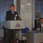 Баатр Егоров приветствует участников конференции